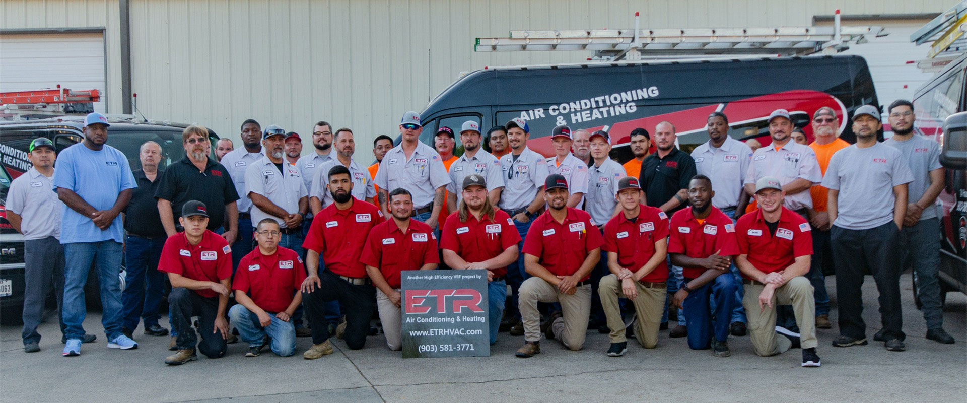 Team members from ETR Air Conditioning and Heating from Longview Texas